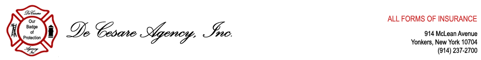 De Cesare Agency, Inc. – All Forms of Insurance in Westchester County, New York, New Jersey, Connecticut